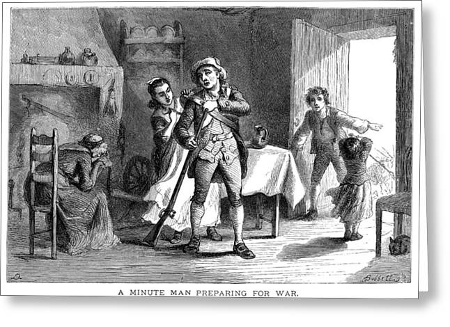 Minutemen Greeting Cards - Minuteman: Family, 1775 Greeting Card by Granger