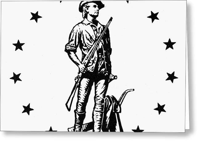 Minuteman Greeting Cards - Minuteman Greeting Card by Granger