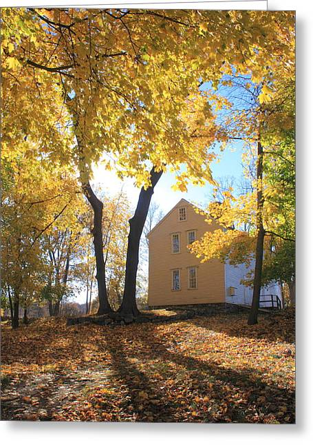 Minuteman Greeting Cards - Minuteman National Historic Park Brooks House Greeting Card by John Burk