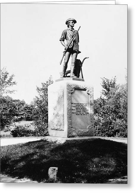 Concord Greeting Cards - Minuteman Statue Greeting Card by Granger