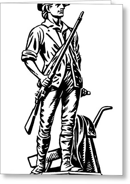 Concord Greeting Cards - Minutemen Greeting Card by Granger