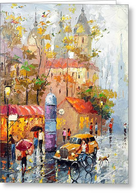 Best Sellers -  - Crosswalk Greeting Cards - Minutes of waiting Greeting Card by Dmitry Spiros