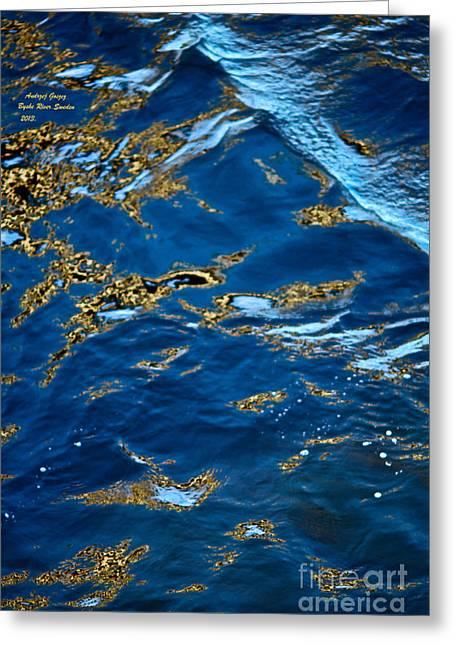 Beauty Mark Greeting Cards - Miracle.  Byske River. Sweden. by Andrzej Goszcz. 2013. Greeting Card by  Andrzej Goszcz