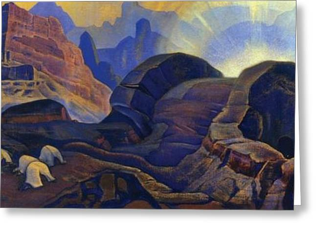 Nicholas Greeting Cards - Miracle Greeting Card by Nicholas Roerich