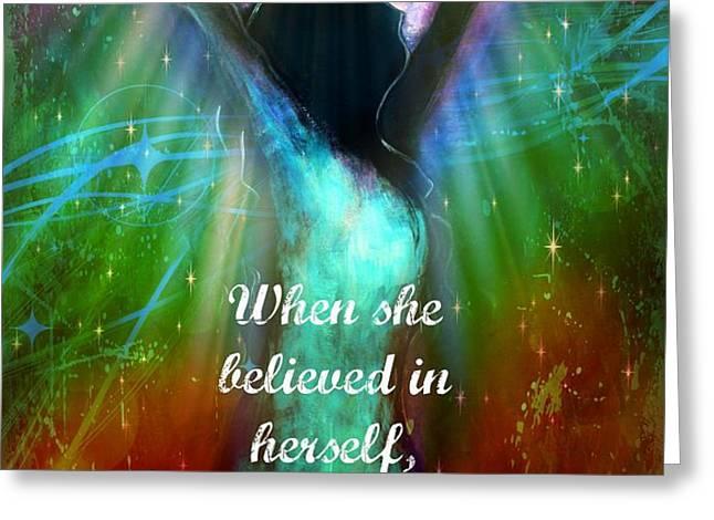 Miracles Happen Greeting Card by Tara Catalano