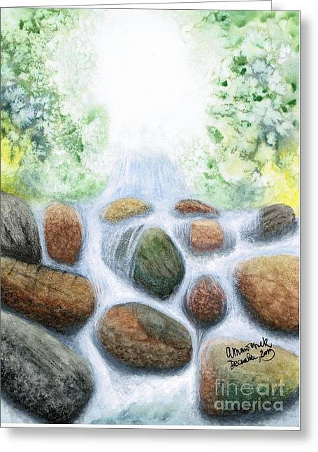 Omnipotent Greeting Cards - Miraculous Waterfall Greeting Card by Amelia Macioszek