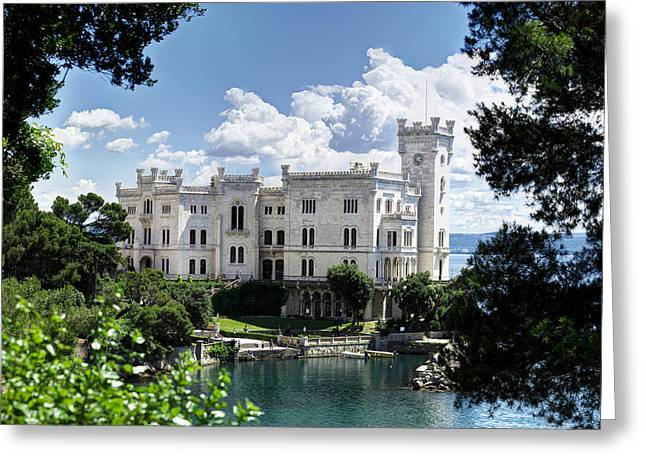 Maximilian Park Greeting Cards - Miramare Castle Greeting Card by Ivan Slosar