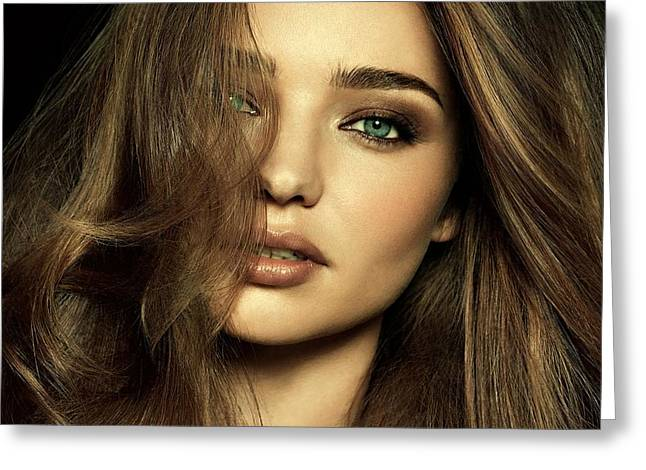 Cabin Wall Greeting Cards - Miranda Kerr Greeting Card by Movie Poster Prints