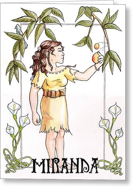 Mango Greeting Cards - Miranda Greeting Card by Whitney Morton
