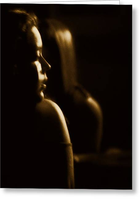 Tender Thoughts Greeting Cards - Mirror Greeting Card by Agustin Uzarraga