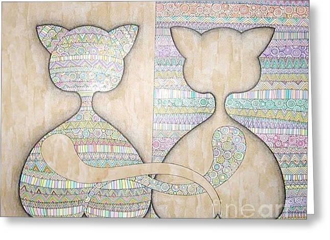 Oracular Greeting Cards - Mirror Greeting Card by Grass Hopper