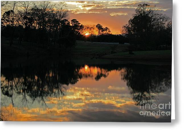 Storm Prints Digital Art Greeting Cards - Mirror Image  Greeting Card by Jinx Farmer
