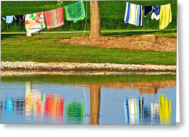 Ingenious Greeting Cards - Mirror Image Greeting Card by Frozen in Time Fine Art Photography