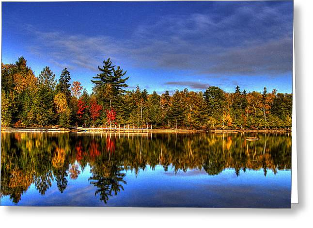 Maine Landscape Greeting Cards - Mirror Image Greeting Card by Sharon Batdorf