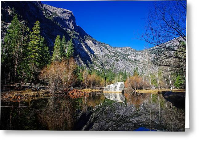 Mariposa County Greeting Cards - Mirror Lake Yosemite National Park Greeting Card by Scott McGuire