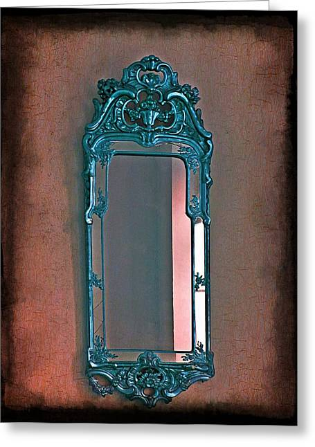 Red Blood Greeting Cards - Mirror Mirror On The Wall... Greeting Card by Marianna Mills