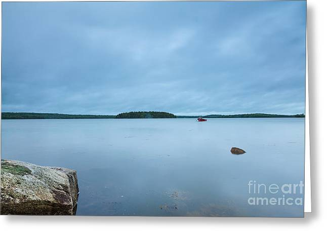 Maine Landscape Greeting Cards - Mirror on the Bay Greeting Card by Susan Cole Kelly