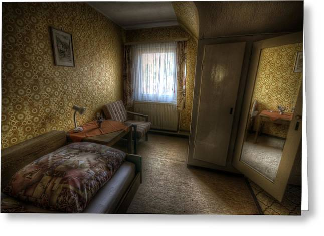Haunted House Digital Greeting Cards - Mirror room Greeting Card by Nathan Wright