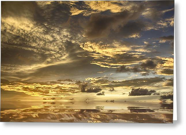 Top-end Greeting Cards - Mirror Sunset  Greeting Card by Douglas Barnard