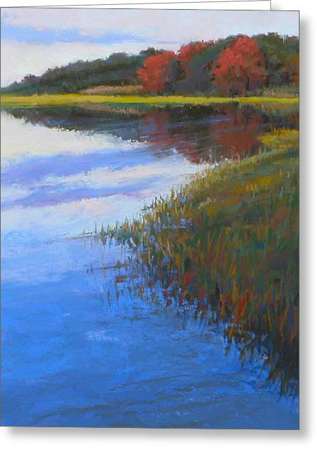 Cape Cod Pastels Greeting Cards - Mirrored Edge Greeting Card by Ed Chesnovitch