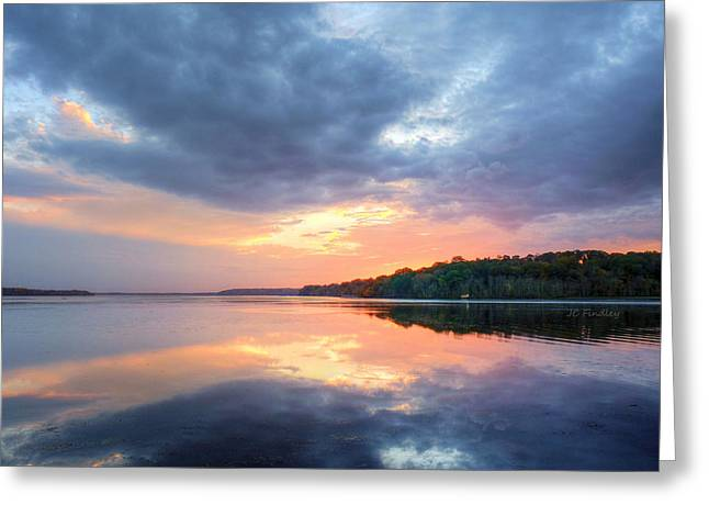 Md Greeting Cards - Mirrored Sunset Greeting Card by JC Findley