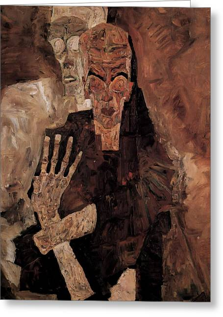 Misery Greeting Cards - Misery Welcomes Greeting Card by Schiele