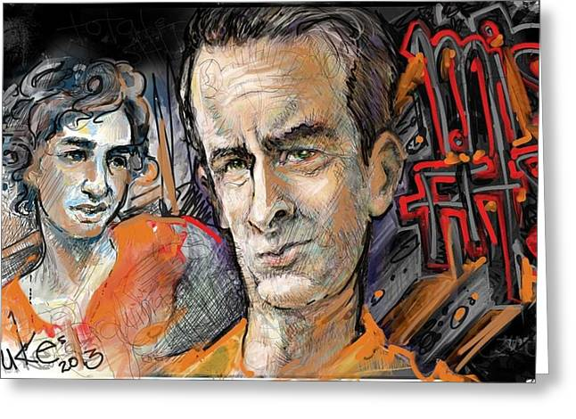 Wacom Tablet Greeting Cards - Misfits Rudy and Nathan Greeting Card by Mister Duke