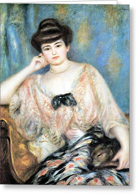 Sitting In A Chair Greeting Cards - Misia Natanson Greeting Card by Pierre Auguste Renoir