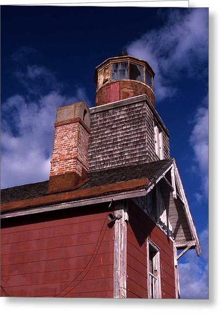 Legendary Lighthouses Greeting Cards - Mispillion Lighthouse Greeting Card by Skip Willits