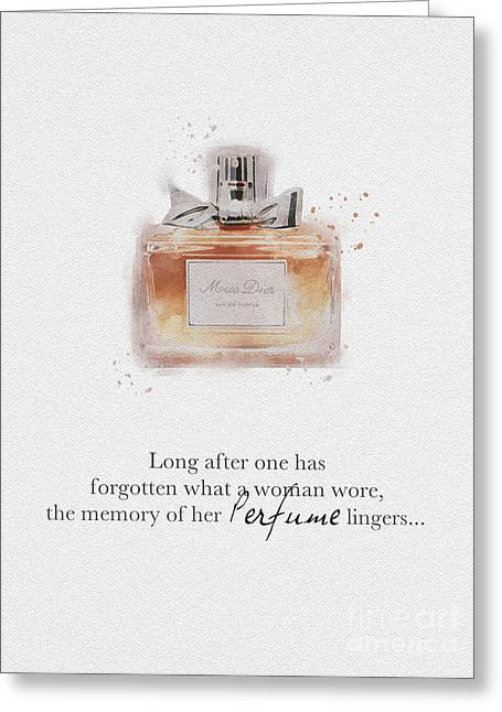 Dior Greeting Cards - Miss Dior Greeting Card by Rebecca Jenkins