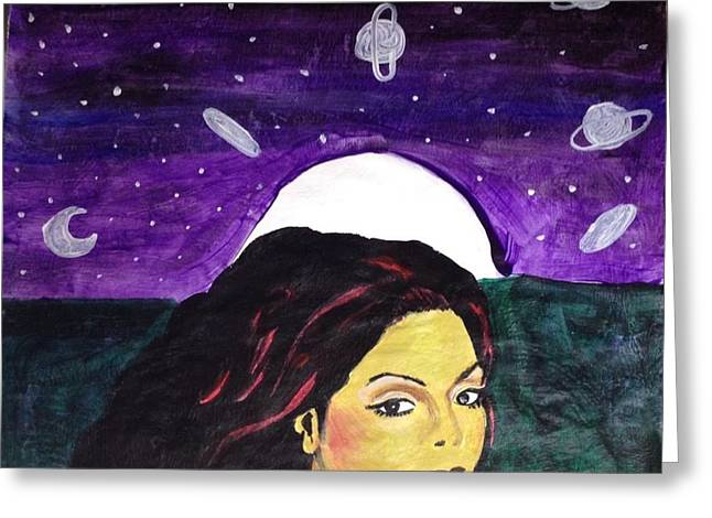 Janet Jackson Greeting Cards - Miss Jacksons Dreamy Nights Greeting Card by Jennifer Mosley