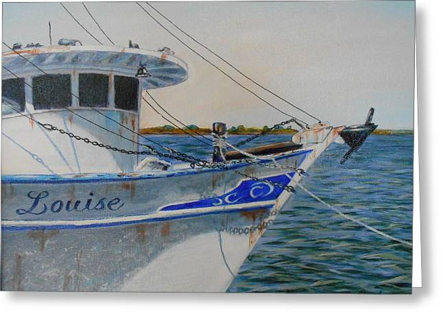 Apalachicola Shrimper Greeting Cards - Miss Louise Greeting Card by Michael Cook