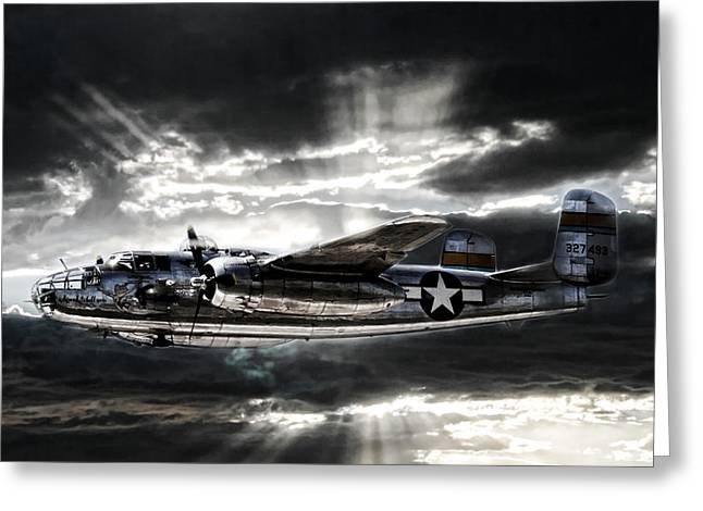 North American Aviation Greeting Cards - Miss Mitchell Greeting Card by Peter Chilelli