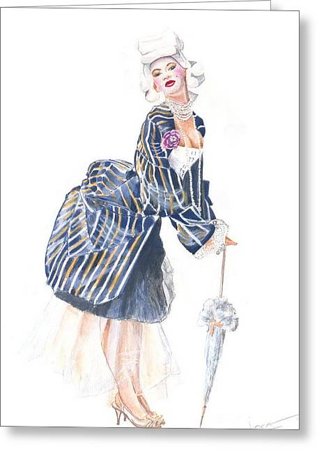 miss Ro co co Greeting Card by Jovica Kostic