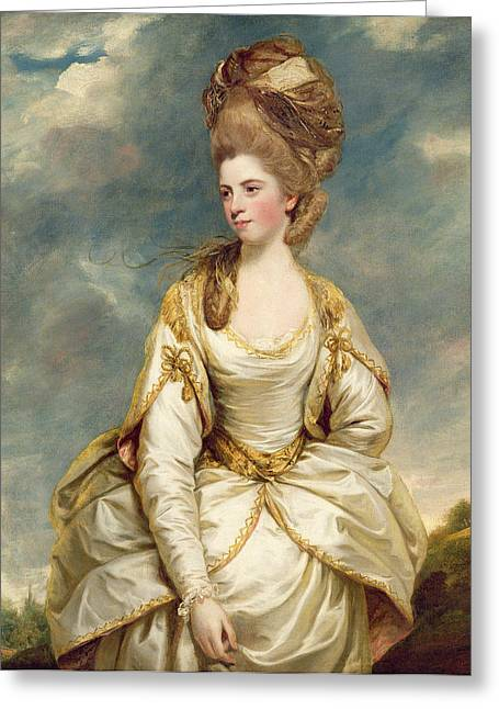 18th Century Greeting Cards - Miss Sarah Campbell Greeting Card by Sir Joshua Reynolds