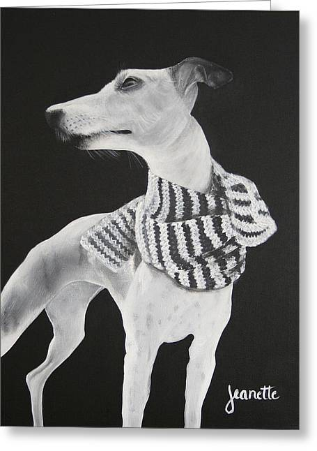 Humane Society Greeting Cards - Miss Scarlett Greeting Card by Jeanette Fellows