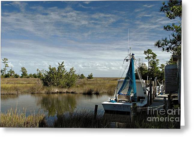 Shrimpers Greeting Cards - Miss Sue Two Greeting Card by Benanne Stiens