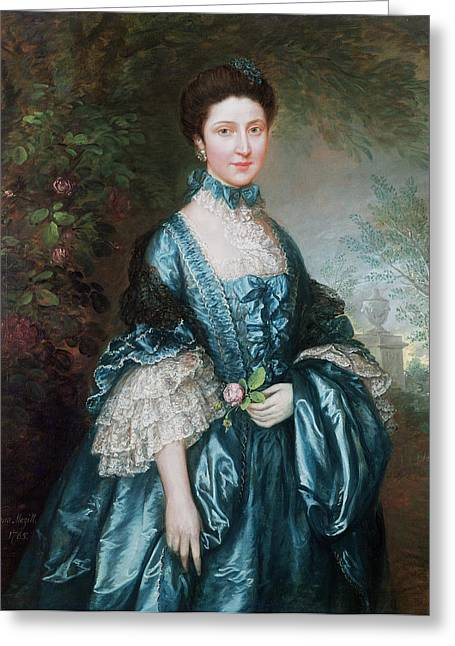 Live Greeting Cards - Miss Theodosia Magill, Countess Clanwilliam D. 1817, 1765 Greeting Card by Thomas Gainsborough