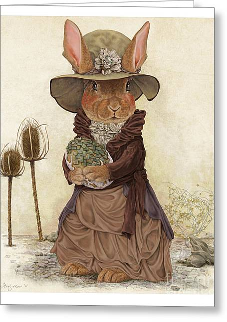 Storybook Greeting Cards - Miss Tittles Greeting Card by Steel Goddess