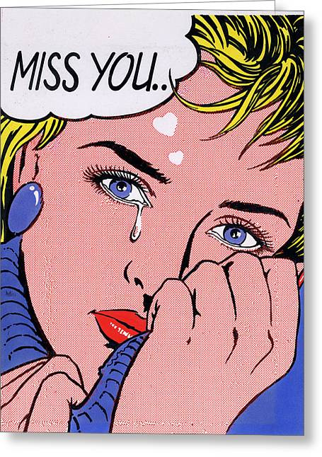 Jumper Greeting Cards - Miss You Greeting Card by MGL Studio