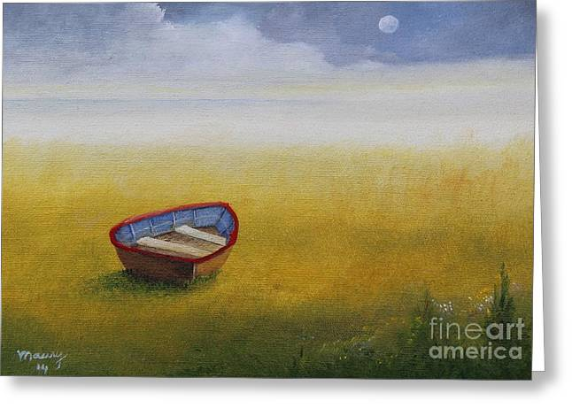 Puerto Rican Artist Greeting Cards - Missing Boat Greeting Card by Alicia Maury