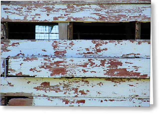 Old Barns Greeting Cards - Missing Greeting Card by Tina M Wenger