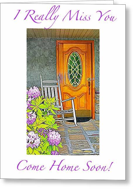 Femina Photo Art Greeting Cards - Missing You Greeting Card Greeting Card by Maggie Vlazny