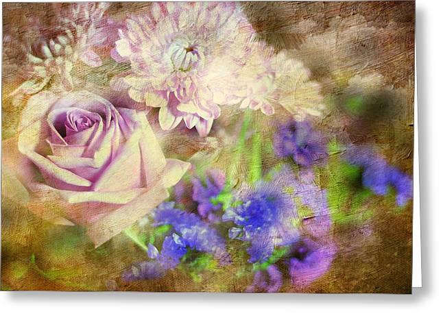 Pinks And Purple Petals Greeting Cards - Missing You Now Greeting Card by Diana Angstadt