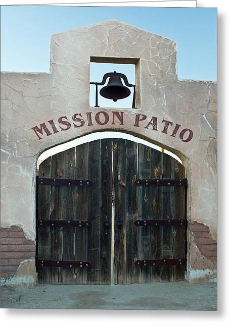 Hay Bales Greeting Cards - Missioin Patio 2 Greeting Card by Douglas Barnett