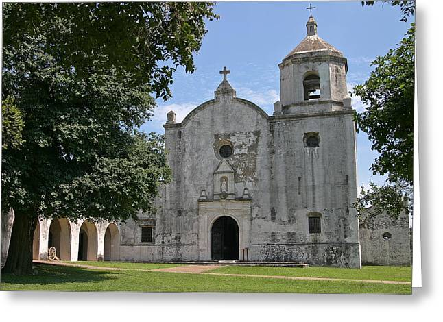 Goliad Texas Greeting Cards - Mission at Goliad Greeting Card by Ken Shuffield