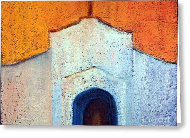 Church Pastels Greeting Cards - Mission church Greeting Card by Sandy Linden