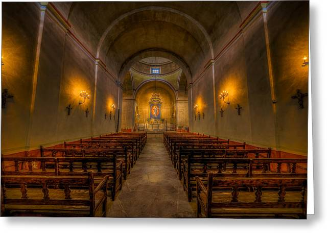 National Park Service Greeting Cards - Mission Concepcion Greeting Card by David Morefield