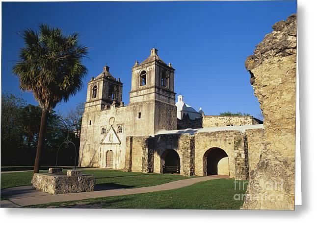 Historic Battle Site Greeting Cards - Mission Concepcion, San Antonio, Texas Greeting Card by David Davis