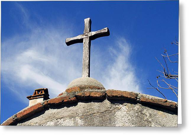 Mission Cross Greeting Card by Shoal Hollingsworth